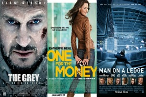 """Weekend film previews: """"One for the money,"""" """"The Grey,"""" and """"Man on a ledge"""""""
