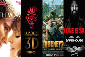 """Weekend film previews: """"Journey 2: Mysterious Island,"""" """"Safe House,"""" """"Star Wars: Episode I – The Phantom Menace 3D,"""" and """"The Vow"""""""