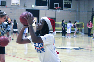 Women's basketball scores gifts for charity