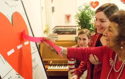 Romero Club shares Valentine's Day with elderly