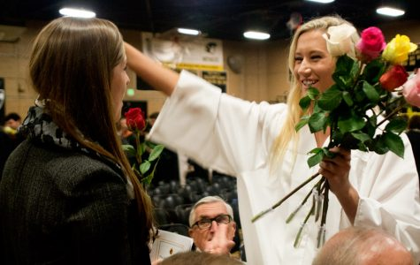 Week in Pictures: Graduation festivities, Advisory block party, Chemistry experiment, Educator of the Year and Senior Awards assembly