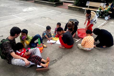 Senior builds relationship with children in Vietnam