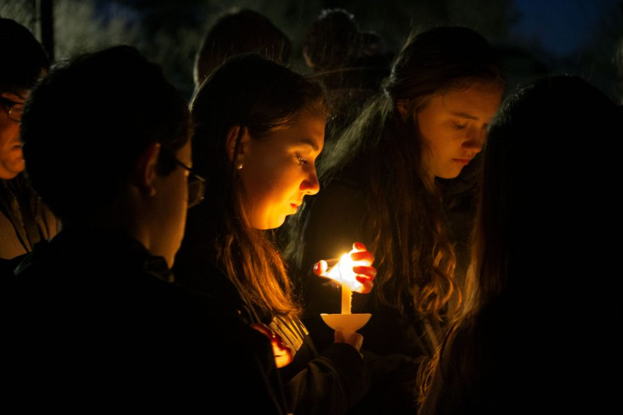 A+student+holds+a+candle+in+memory+of+sophomore+Josh+Hamer+at+the+candlight+vigil+on+Thusday%2C+March+2.+In+addition+to+the+vigil%2C+students+united+together+on+Monday+March+6%2C+the+community+held+a+prayer+service+to+honor+and+celebrate+Josh%E2%80%99s+life.