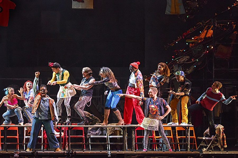 The+cast+of+%22Rent%22+poses+during+one+of+the+show%27s+most+famous+songs%2C+%22La+Vie+Boheme.%22+The+show+is+currently+on+its+20th+Anniversary+tour%2C+and+came+to+Baltimore+on+the+weekend+of+April+1.