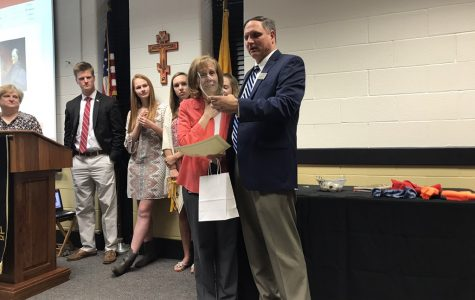 Teacher recognized for years of service