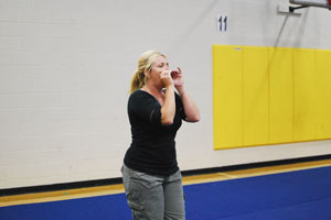 Cheerleading coach jumps into new 'routines'