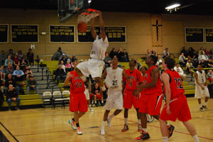 Men's basketball defeats McDonogh in overtime