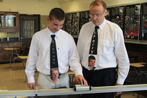 Students and teachers explore interesting tie options