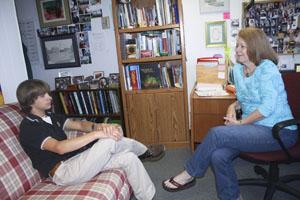 Guidance counselor Carol Heflin