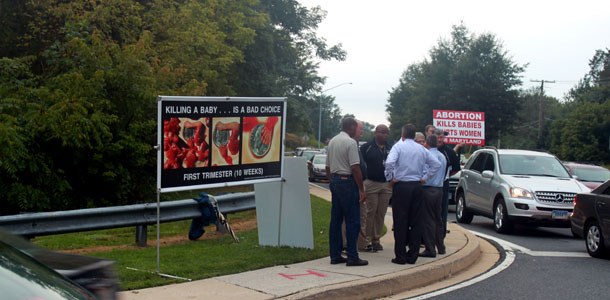 [UPDATED] Abortion protesters stir controversy near JC
