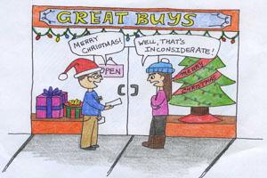 Debates during holidays are ho, ho, horrible