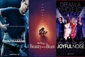 Weekend film previews: Joyful Noise, Beauty and the Beast 3D, and Contraband