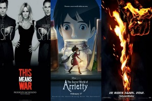 Weekend film previews: This Means War, Ghost Rider: Spirit of Vengeance, and The Secret World of Arrietty