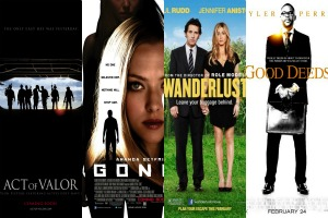 Weekend movie previews Wanderlust, Gone, Tyler Perrys Good Deeds, and Act of Valor
