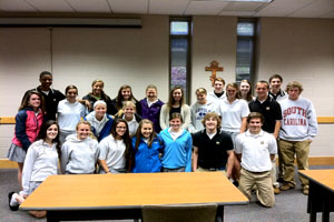 Olympic athlete speaks with Student-Athlete Leadership Group