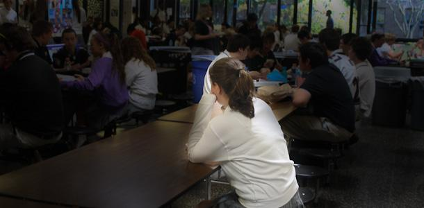Bullying affects many students at JC. Some students find themselves sitting alone in the cafeteria at lunch time.