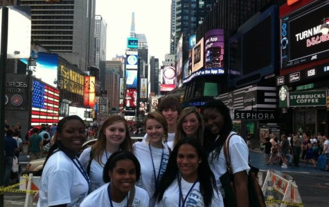 Sarah Ford and students from around the country at the Lead America Conference. Ford got to go to New York for the conference and experience the medical field hands on.