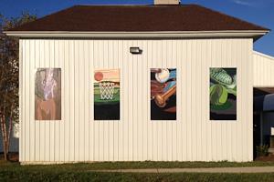 Artist Spotlight: Junior brightens Emmorton Rec. Center with refreshing mural