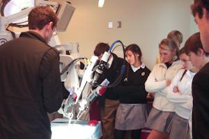 STEM program visits Johns Hopkins robotics lab