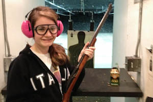 Senior adventures to gun range for target practice