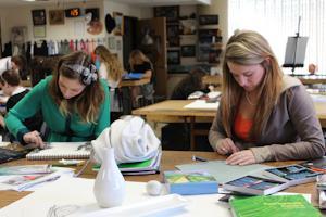 AP Studio students prepare collections for AP exam