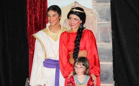 Children fly into Agrabah to meet cast of 'Aladdin'