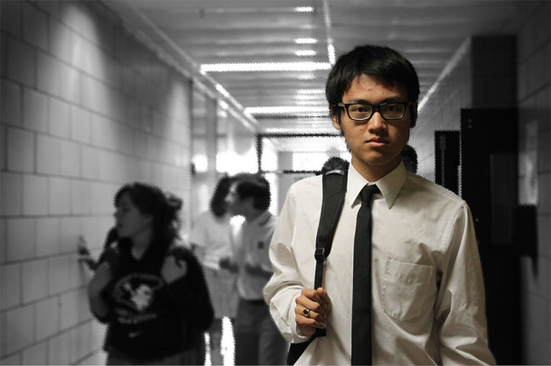Junior William Du is one of 21 Chinese students at JC. Fitting into high school may be harder than it seems for these students.