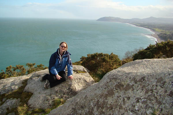 Spanish teacher Danica Attanasio hikes to the top of a hill in Dalkey, Ireland. Attanasio enjoys traveling in her spare time on school trips as well as on her own or with her husband.