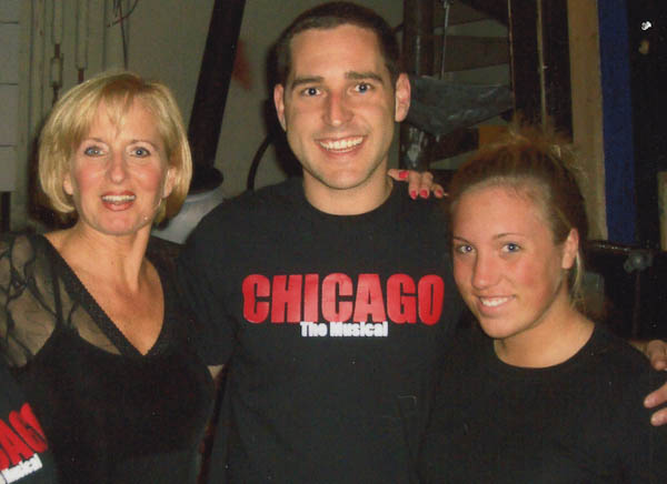 (From left to right) Kim Brueggemann, Larry Hensley, and JC graduate Katie Manning pose backstage during 'Chicago' at PFT in 2007. The show starred Brueggemann as Roxie under the direction of Hensley.