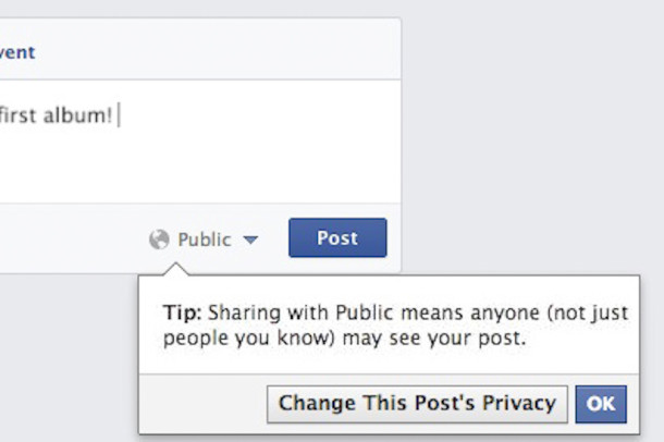 Facebook's new policy allows teens to change the privacy setting to public directly from the status bar. This change was put into effect Oct. 16.