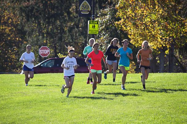 Women%27s+cross+country+practices+for+the+championship+meet+on+Oct.+30.+The+team+went+undefeated+this+season+with+a+record+of+7-0.