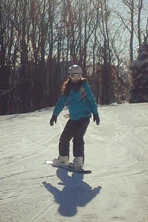 Junior Matilda Butler skiis in Seven Springs during one of last years ski trips. This year, they plan to have three after school trips.