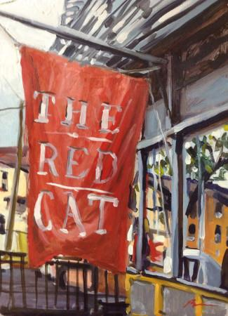 Three of Art teacher Bruno Barans paintings were chosen to be in the National Juried Art Show this year. Two of them were The Red Cat (above) and Chapel of Norte Dame Paris (below).