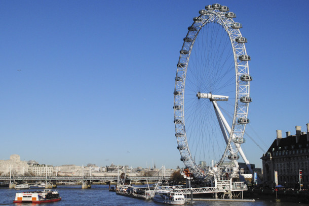 The London Eye is Londons iconic Ferris wheel. It stands 443 feet above the River Thames and was opened to the public in 2000.