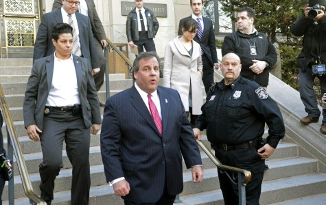 New Jersey Gov. Chris Christie leaves Fort Lee, N.J.'s city hall after apologizing to Mayor Mark Sokolich on Thursday, Jan. 9, 2014. (Viorel Florescu/The Record/MCT)