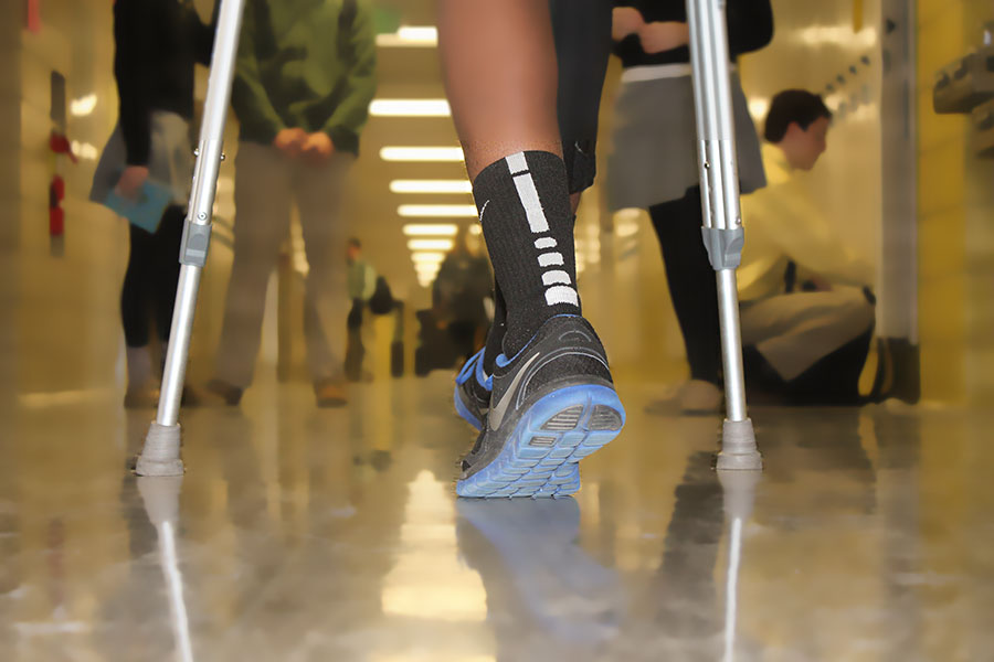 According to Head Athletic Trainer Erik Fabriziani, JC athletes spend 2-3 hours training depending on which sport they play. This intense training sometimes causes injuries.