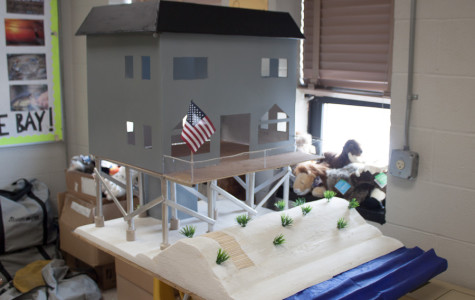 Freshmen Emily Schiavone and Allie Taylor worked on this gray beach house as part of a AP Human Geography project. It was supposed to represent a beach house in Bethany Beach, Delaware.