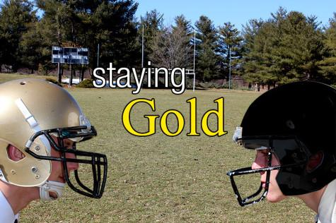 A golden tradition: football helmets spark controversy