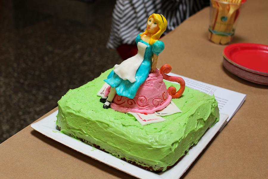 The Alice in Wonderland inspired cakes is displayed during the Edible Art Contest on April 24. Meyer competed, along with 8 other students.