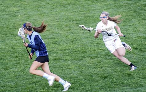 JV women's lacrosse dominates field