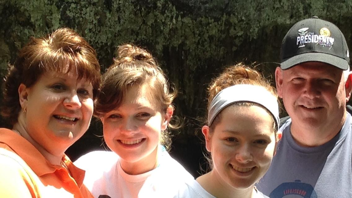 Junior Kristen Flanigan (third from the left) and her family visited Rock State Park on June 18, 2014. They plan to go to Massachusetts in April to spend more time with her extended family.