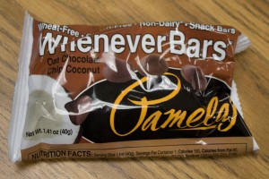 Vogel likes Pamelas Gluten Free Whenever Bars. They are wheat free, gluten free and non-dairy.