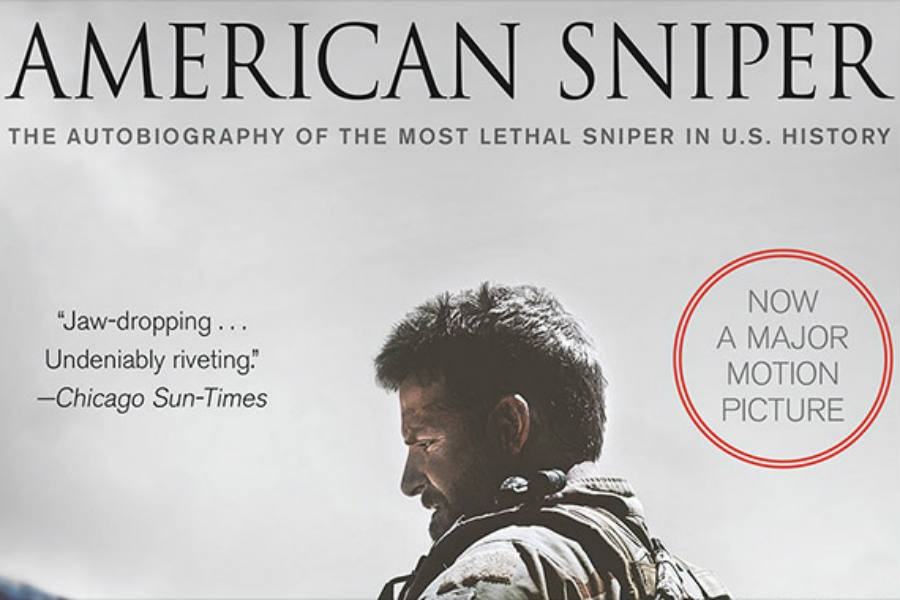 Above is the book cover for American Sniper. It was recently adapted into a movie.