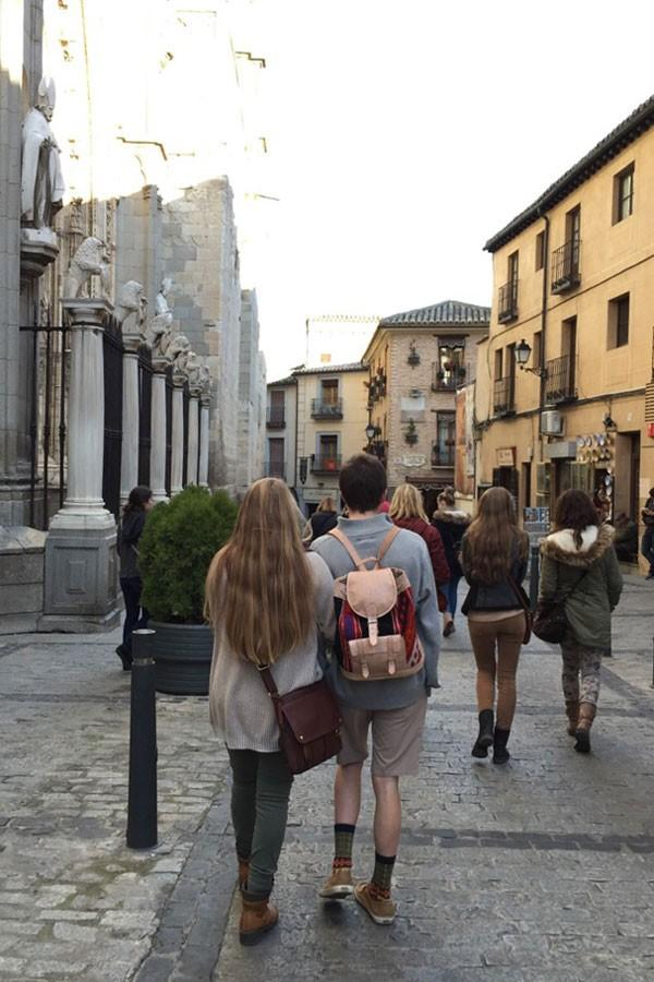 Touring the streets of Toledo, students take in the Spanish culture. The Spanish Exchange Program occurs yearly and students are able to spend two and a half weeks in Spain.