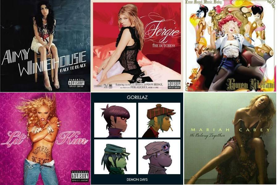 Above are some popular albums from the late 90s and early 2000s. This playlist for Throwback Thursday will feature songs from these albums in addition to other throwbacks.