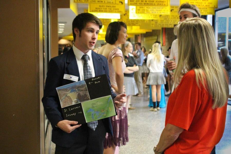 Junior Alex Nyce portrays president Herbert Hoover for 1920's day. The project was for Mr. Hollin's honors history class on Fri. May 1.