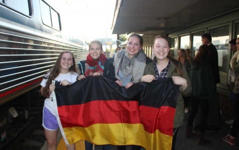 German exchange students arrive