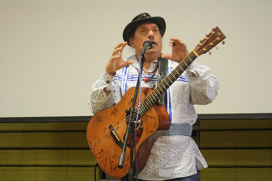 Barry Lee, of the Native American music group