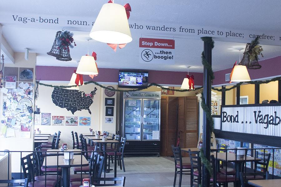 The Vagabond Sandwich Company is located on Thomas Street in Bel Air. It offers a wide variety of salads, burgers, and sandwiches.