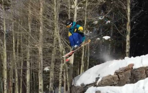 Senior Dean LaPonzina does a jump while snowboarding in Vail, Colo. Skiing and snowboarding provides an entertainment option for students during the winter.